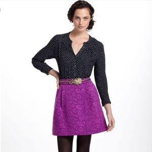 Anthro HD in Paris Prunus purple brocade skirt